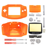 Clear Orange Full Housing Shell Buttons with Screen Len for Nintendo Game Boy Advance - GBA005