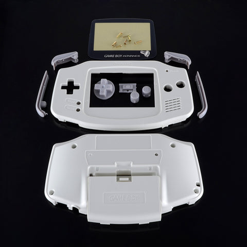 New White Casing Case Shell Housing Screen for Nintendo Game Boy Advance GBA -GBA009