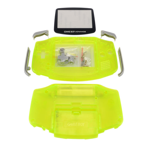 New Full Housing Shell Part for Nintendo Gameboy Advance GBA Repair Clear Yellow -GBA009Y