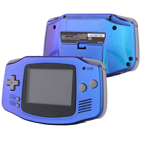 Chameleon Purple Blue GBA Replacement Full Housing Shell Cover w/ Buttons Screws Screwdriver Tools Set for Gameboy Advance - Handheld Game Console NOT Included - GBAP301