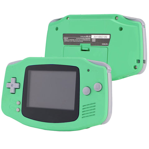 PlayVital Mint Green Soft Touch GBA Replacement Full Housing Shell Cover w/ Buttons Screws Screwdriver Tools Set for Gameboy Advance - Handheld Game Console NOT Included - GBAP314