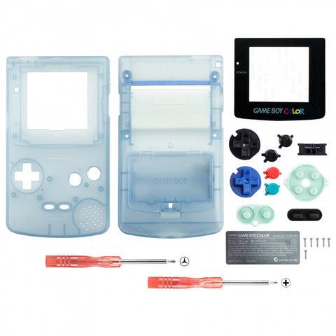 Grow in Dark Blue Full Housing Shell Buttons with Screen Len for Nintendo Game Boy Color - GBC006