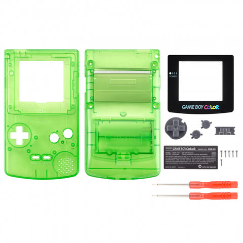 Clear Green Full Housing Shell Buttons with Screen Len for Nintendo Game Boy Color - GBC013