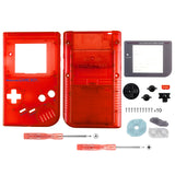 Clear Red Full Housing Shell Buttons with Screen Len for Nintendo Game Boy DMG-01 - GBF007