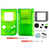 Clear Green Full Housing Shell Buttons with Screen Len for Nintendo Game Boy DMG-01 - GBF009