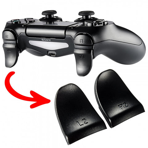 2 Pairs Black L2 R2 Extended Trigger for PS4 Controller - GC00121B