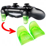 2 Pairs Green L2 R2 Extended Trigger for PS4 Controller-GC00121G