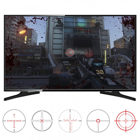 FastScope No Scope TV Decal for FPS Games on PS4 PS3 Xbox One Xbox 360 PC 10pcs  -GC00151