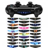 Light Bar Decal for PS4 (60pcs) Black and White + Colorful Game - GCLS0034