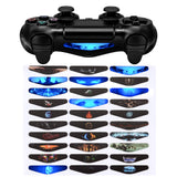 30 Pcs Color Artwork Pattern Signs Led Light Bar Decals Stickers Flim for PS4 Slim Pro Controller Skins - GCLS0050