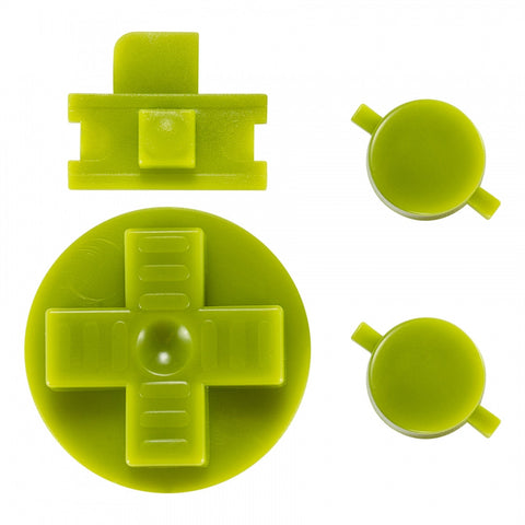Green A B Buttons Dpad Control Complete Kit for Gameboy Classic Fat DMG-01 - GFAJ0005GC