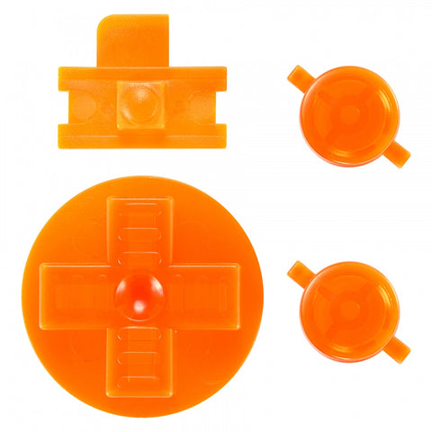 Transparent Orange  A B Buttons Dpad Control Complete Kit for Gameboy Classic Fat DMG-01 - GFAJ0007GC