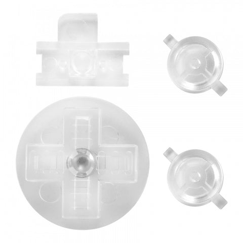 Transparent Clear A B Buttons Dpad Control Complete Kit for Gameboy Classic Fat DMG-01 - GFAJ0008GC
