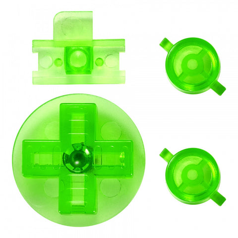 Transparent Green  A B Buttons Dpad Control Complete Kit for Gameboy Classic Fat DMG-01 - GFAJ0011GC