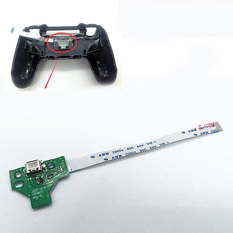 USb Charging Port Charger Socket Board & Flex Cable For 2rd PS4 Controller Blue - GP4F0042