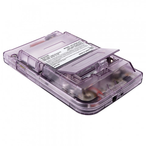 Clear Purple Plastic Replacement Battery Door Cover for Nintendo Game Boy Pocket - GPAJ0008GC