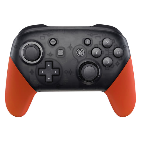 Orange Replacement Handle Grips for Nintendo Switch Pro Controller, Soft Touch DIY Hand Grip Shell for Nintendo Switch Pro - Controller NOT Included - GRP303