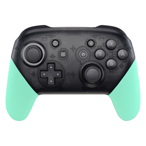 Mint Green Replacement Handle Grips for Nintendo Switch Pro Controller, Soft Touch DIY Hand Grip Shell for Nintendo Switch Pro - Controller NOT Included - GRP309