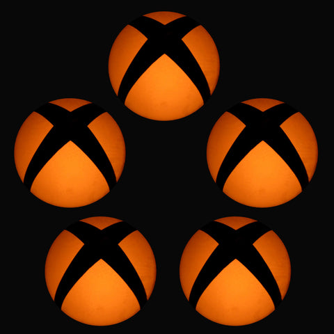 Removable Logo Power Button LED Orange Color Change Sticker Decal for Xbox One Console -GX00083O*5