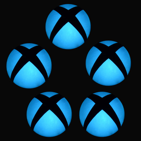 Removable Logo Power Button LED Light Blue Color Change Sticker Decal for Xbox One Console -GX00083E*5