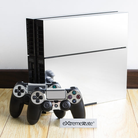 Custom Silver Design Electroplating Decal Skin Stickers for PS4 Console & Controller - GYTM0251