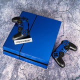 Custom Blue Design Electroplating Decal Skin Stickers for PS4 Console & Controller - GYTM0252