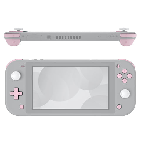Soft Touch Sakura Pink Replacement ABXY Home Capture Plus Minus Keys Dpad L R ZL ZR Trigger for Nintendo Switch Lite, Full Set Buttons Repair Kits with Tools for Nintendo Switch Lite - HL506