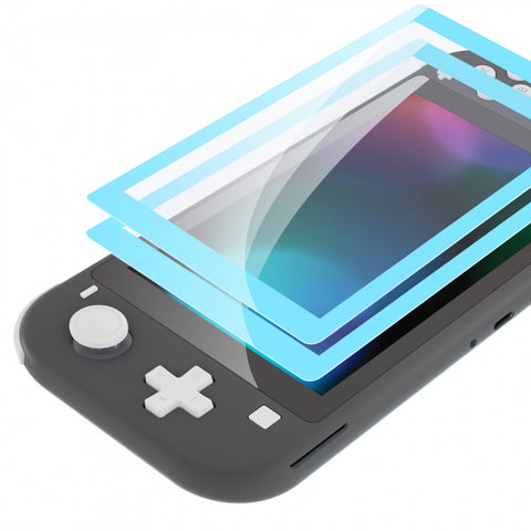 2 Pack Heaven Blue Border Transparent HD Saver Protector Film, Tempered Glass Screen Protector for Nintendo Switch Lite [Anti-Scratch, Anti-Fingerprint, Shatterproof, Bubble-Free] - HL713