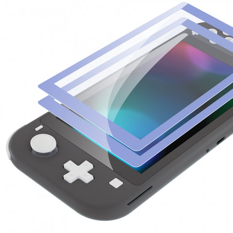 2 Pack Light Violet Border Transparent HD Saver Protector Film, Tempered Glass Screen Protector for Nintendo Switch Lite [Anti-Scratch, Anti-Fingerprint, Shatterproof, Bubble-Free] - HL715