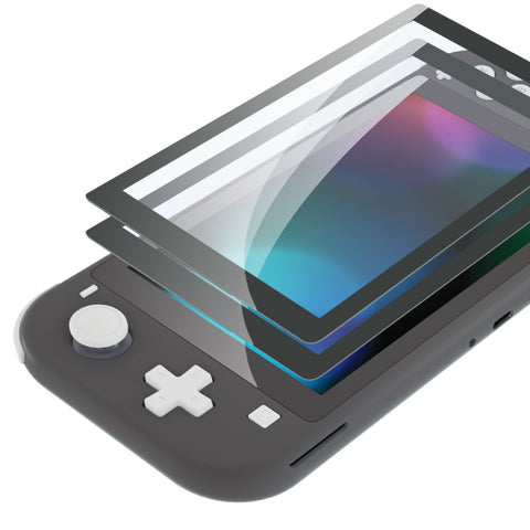 2 Pack Gray Border Transparent HD Saver Protector Film, Tempered Glass Screen Protector for Nintendo Switch Lite [Anti-Scratch, Anti-Fingerprint, Shatterproof, Bubble-Free] - HL731