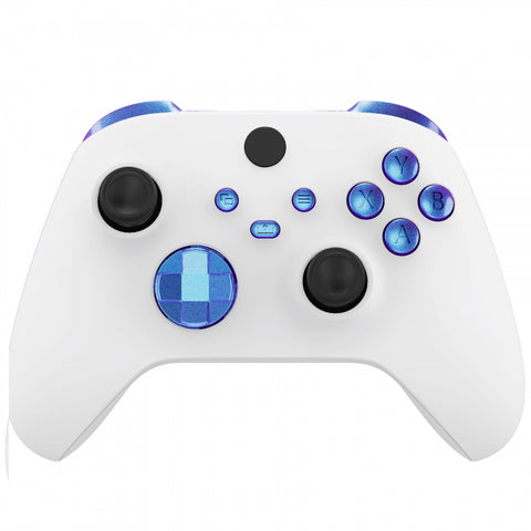 Chameleon Puple Blue Replacement Buttons for Xbox Series S & Xbox Series X Controller, LB RB LT RT Bumpers Triggers D-pad ABXY Start Back Sync Share Keys for Xbox Series X/S Controller - JX3101