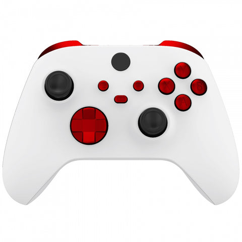 Scarlet Red Replacement Buttons for Xbox Series S & Xbox Series X Controller, LB RB LT RT Bumpers Triggers D-pad ABXY Start Back Sync Share Keys for Xbox Series X/S Controller - JX3103