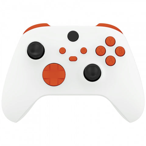 Orange Replacement Buttons for Xbox Series S & Xbox Series X Controller, LB RB LT RT Bumpers Triggers D-pad ABXY Start Back Sync Share Keys for Xbox Series X/S Controller - JX3104
