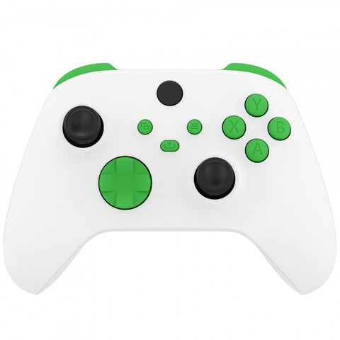 Green Replacement Buttons for Xbox Series S & Xbox Series X Controller, LB RB LT RT Bumpers Triggers D-pad ABXY Start Back Sync Share Keys for Xbox Series X/S Controller - JX3106