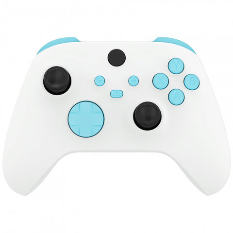 Heaven Blue Replacement Buttons for Xbox Series S & Xbox Series X Controller, LB RB LT RT Bumpers Triggers D-pad ABXY Start Back Sync Share Keys for Xbox Series X/S Controller - JX3113