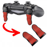 1 Pair Red Black Soft Touch L2 R2 Buttons Extention Trigger, Soft Touch Grip Extenders for PlayStation 4 PS4 Pro PS4 Slim JDM-001 JDM-011 JDM-040 JDM-050 JDM-055 Controller - JYP4S0022