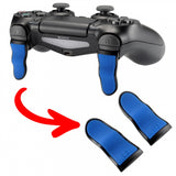 1 Pair Blue Black Soft Touch L2 R2 Buttons Extention Trigger, Soft Touch Grip Extenders for PlayStation 4 PS4 Pro PS4 Slim JDM-001 JDM-011 JDM-040 JDM-050 JDM-055 Controller - JYP4S0024