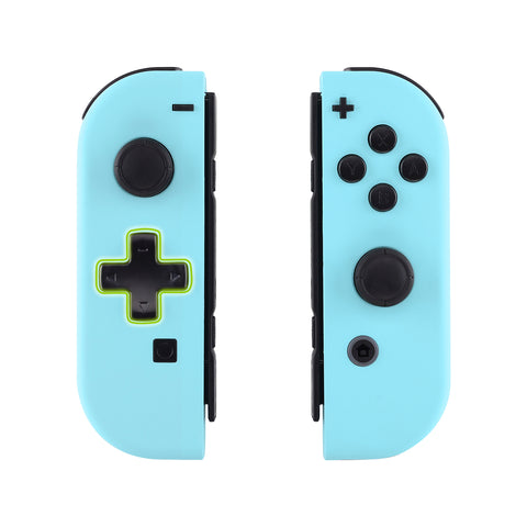 Soft Touch Heaven Blue Joycon Handheld Controller Housing (D-Pad Version) with Full Set Buttons, DIY Replacement Shell Case for Nintendo Switch Joy-Con - Console Shell NOT Included - JZP307