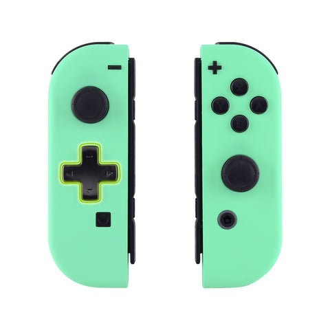 Soft Touch Mint Green Joycon Handheld Controller Housing (D-Pad Version) with Full Set Buttons, DIY Replacement Shell Case for Nintendo Switch Joy-Con - Console Shell NOT Included  - JZP308