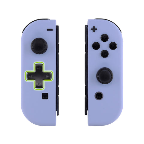 Soft Touch Light Violet Joycon Handheld Controller Housing (D-Pad Version) with Full Set Buttons, DIY Replacement Shell Case for Nintendo Switch Joy-Con - Console Shell NOT Included - JZP309
