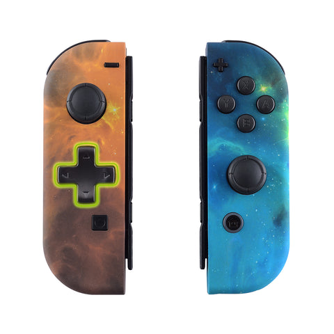 Orange Star Universe Soft Touch Joycon Handheld Controller Housing (D-Pad Version) with Full Set Buttons, DIY Replacement Shell Case for Nintendo Switch Joy-Con - Console Shell NOT Included - JZT102