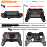 Red Replacement Handle Grips for Nintendo Switch Pro Controller, Soft Touch DIY Hand Grip Shell for Nintendo Switch Pro - Controller NOT Included - GRP302