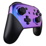 Chameleon Glossy Faceplate and Backplate for NS Switch Pro Controller, Purple Blue DIY Replacement Shell Housing Case for NS Switch Pro - Controller NOT Included - MRP301