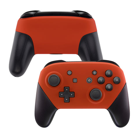 Orange Faceplate and Backplate for Nintendo Switch Pro Controller, Soft Touch DIY Replacement Shell Housing Case for Nintendo Switch Pro - Controller NOT Included - MRP303
