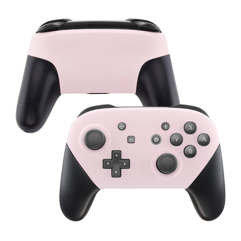 Sakura Pink Faceplate and Backplate for Nintendo Switch Pro Controller, Soft Touch DIY Replacement Shell Housing Case for Nintendo Switch Pro - Controller NOT Included - MRP307