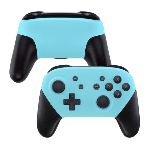 Heaven Blue Faceplate and Backplate for Nintendo Switch Pro Controller, Soft Touch DIY Replacement Shell Housing Case for Nintendo Switch Pro - Controller NOT Included - MRP308