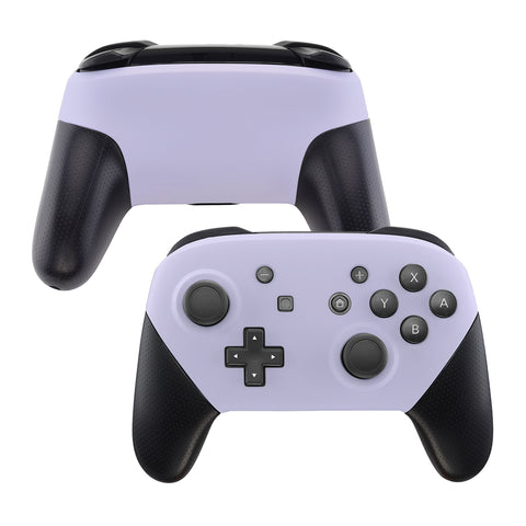 Light Violet Faceplate and Backplate for Nintendo Switch Pro Controller, Soft Touch DIY Replacement Shell Housing Case for Nintendo Switch Pro - Controller NOT Included - MRP310