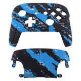 Blue Coating Splash Patterned Soft Touch Faceplate and Backplate Replacement Shell Housing Case for NS Switch Pro Controller- Controller NOT Included - MRS204