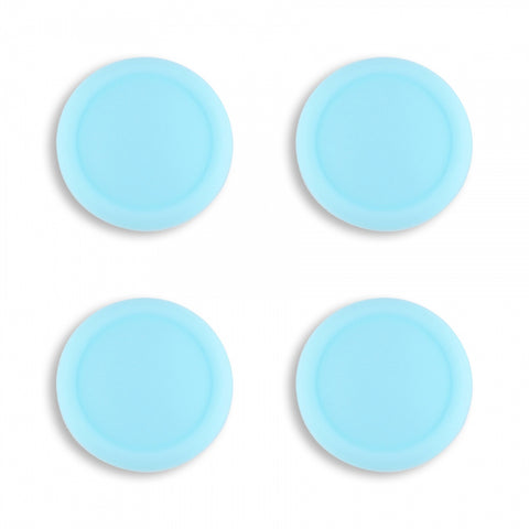 PlayVital Switch Joystick Caps, Switch Lite Thumb Stick Caps, Silicone Analog Cover Thumb Grip Rocker Caps for Nintendo Switch Joy-Con Controller & Switch Lite, 4 Pcs Heaven Blue - NJM1012