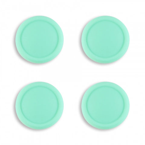 PlayVital Switch Joystick Caps, Switch Lite Thumb Stick Caps, Silicone Analog Cover Thumb Grip Rocker Caps for Nintendo Switch Joy-Con Controller & Switch Lite, 4 Pcs Mint Green - NJM1013